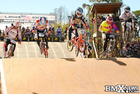 Sunday's A-Pro Main Event Hits the first jump at the USA BMX Gator Nationals