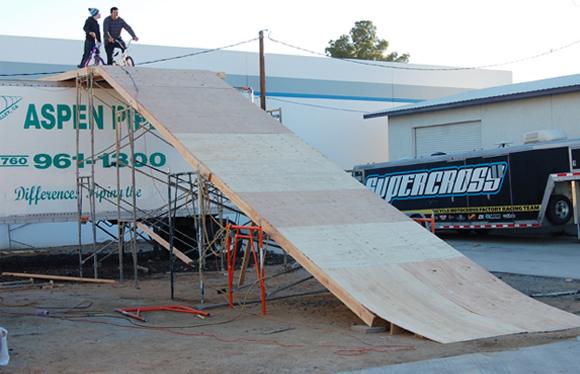 The Roll-in at Supercross BMX HQ's Playground