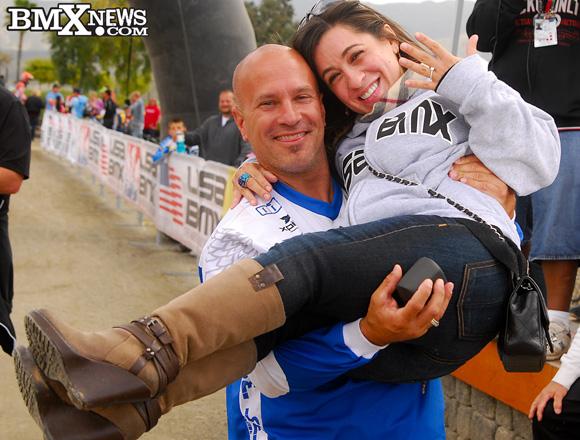 Todd Lyons Proposes Marriage at USA BMX So. Cal Nats