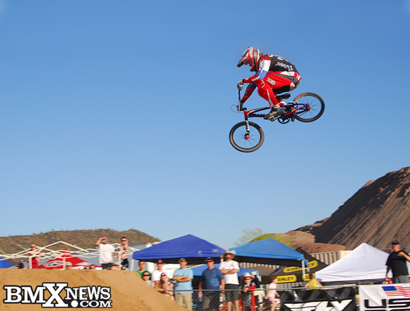 Deak Brown attacks the pro set at the USA BMX Winter Nationals