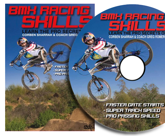 Greg Romero and Corben Sharrah in the BMX Racing Skills DVD