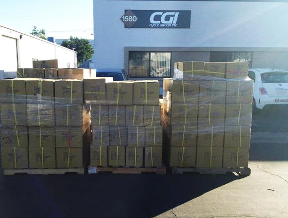 Box Components shipment arriving at Box HQ