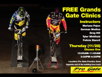 Pro Gate Hosting Two Free Clinics at The Grands