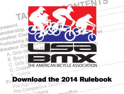 Download the 2014 USA BMX Rulebook
