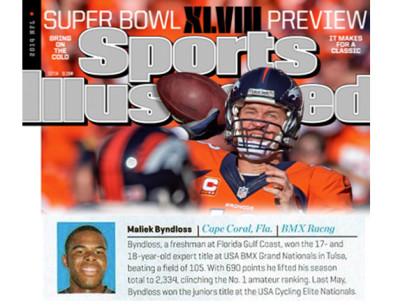 Maliek Byndloss Gets Props in Sports Illustrated