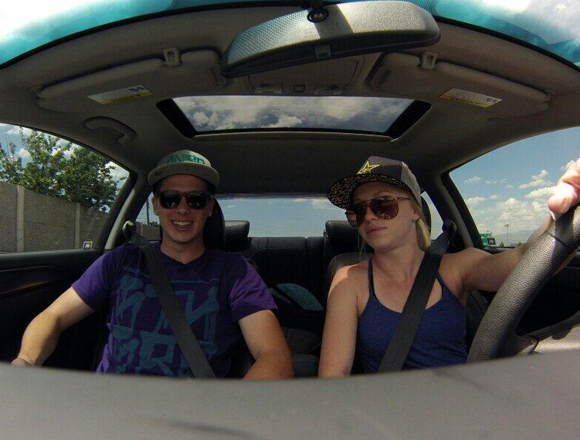 Brooke and Bryce drive to Salt Lake