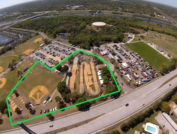 Footprint on new Oldsmar BMX SX Facility