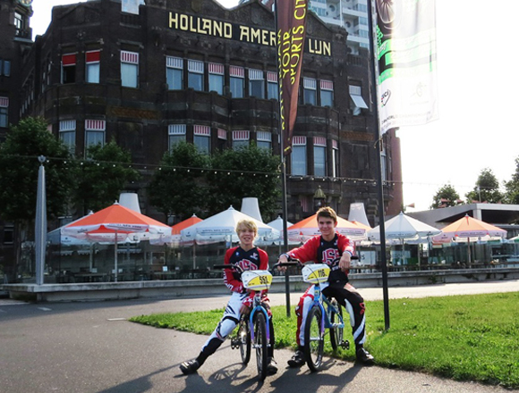 Wyatt and WIlliam Parker in Rotterdam, Holland