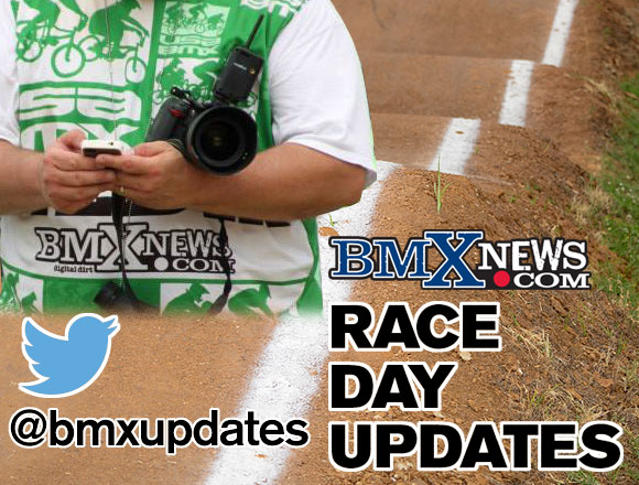 @bmxupdates is Tweeting on race day
