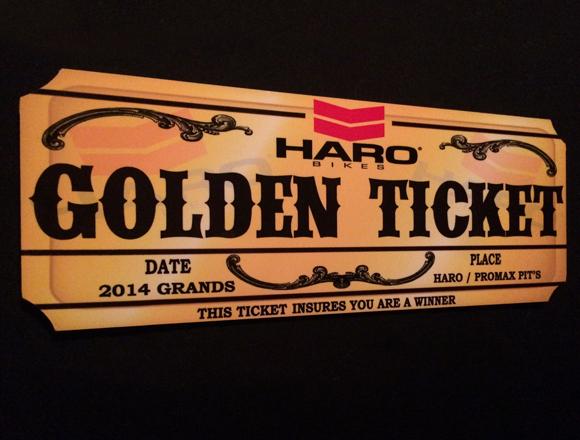 2014 Grands Haro Golden Ticket