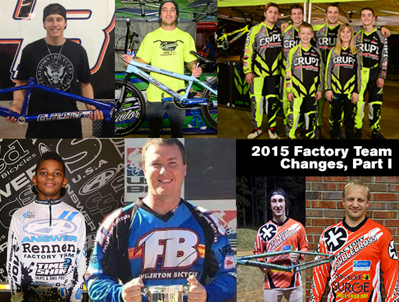2015 Factory Team Changes