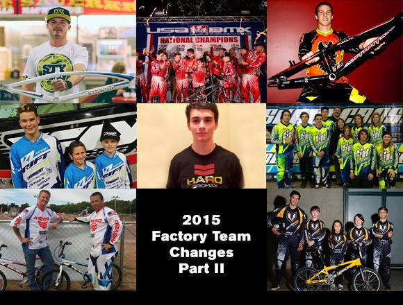 2015 Factory Team Changes - Part II