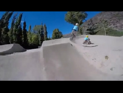 Five Year Old Twins Shred a New Zealand Bike Park
