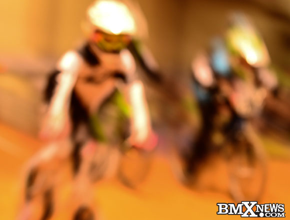Out of focus BMX racing photo