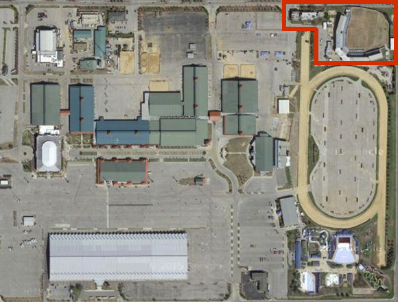 Footprint of the USA BMX Epicenter Facility