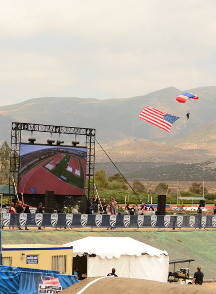Skydiver at the 2016 US Olympic Trials