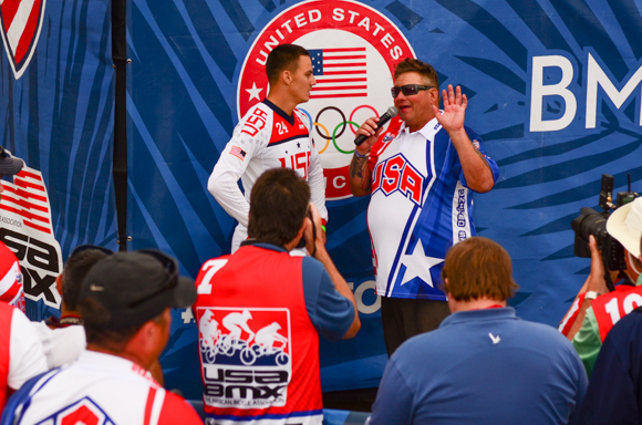 Corben Sharrah interviewd after winning the 2016 US Olympic BMX Trials