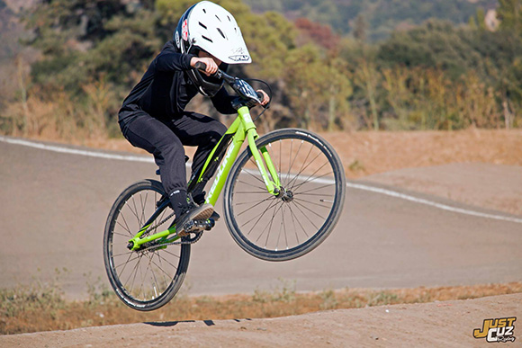 New BMX Racer catches some ar at North bay BMX