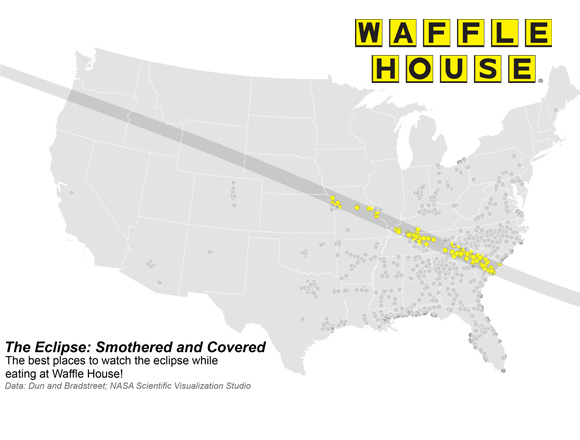 Best Waffle House Locations to Watch The Eclipse