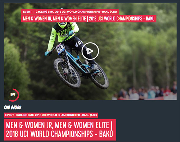 Olympic Channel Lead-In for 2018 UCI BMX World Championships