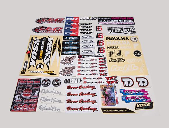 BMX News' undercover sticker hunter's haul