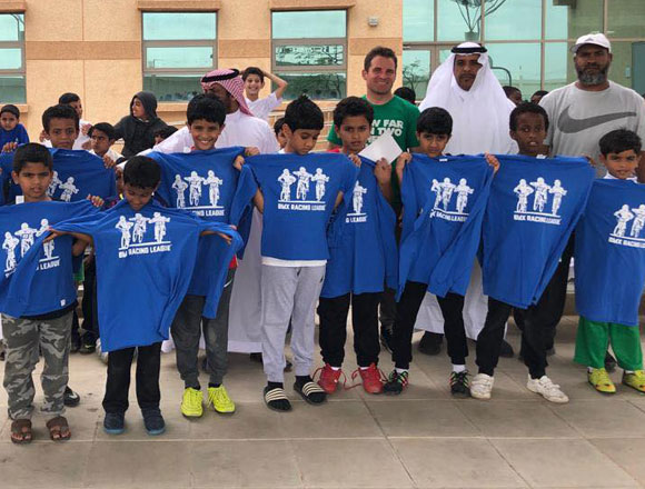 Donny Robinson in Saudi Arabia for the USA BMX Foundation